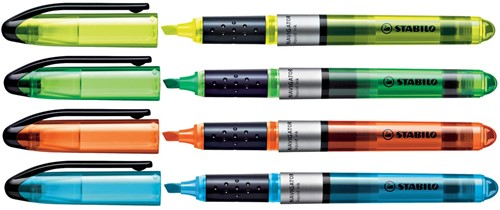STABILO NAVIGATOR markeerstift, etui van 4 stuks in geassorteerde kleuren