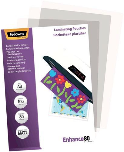 Fellowes lamineerhoes Enhance80 ft A3, 160 micron (2 x 80 micron), pak van 100 stuks, mat-2