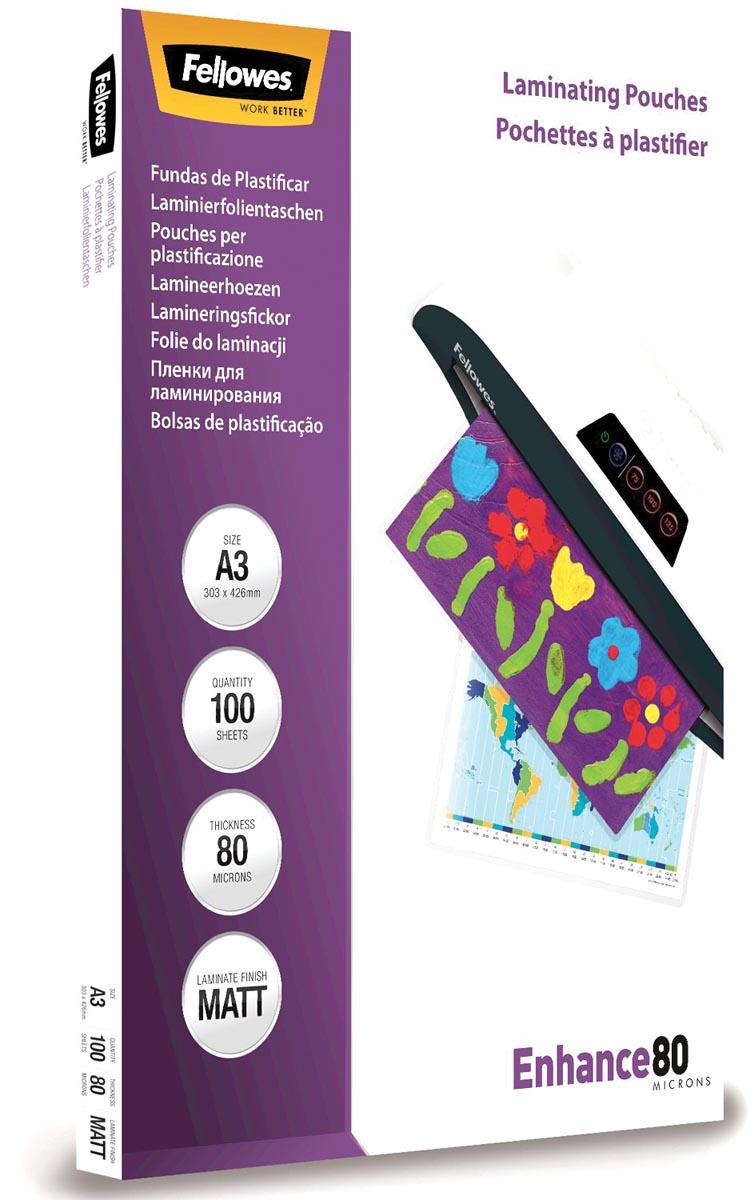 Fellowes lamineerhoes Enhance80 ft A3, 160 micron (2 x 80 micron), pak van 100 stuks, mat