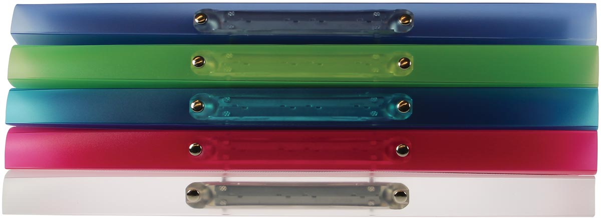 Exaclair Personaliseerbare ringmap Kreacover 2 ringen 15 mm, geassorteerde kleuren
