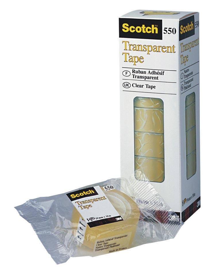 Scotch transparante tape 550 ft 12 mm x 33 m