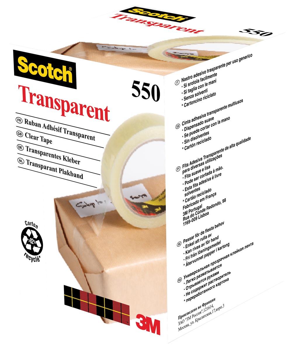 Scotch transparante tape 550 ft 19 mm x 66 m