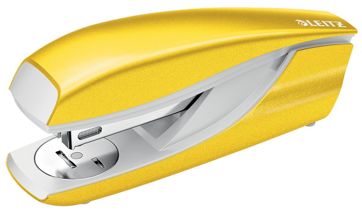 Leitz NeXXt WOW 5502 nietmachine, geel, op blister