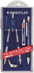 Staedtler passer Comfort Promo, gratis vulpotlood + potloodstiften