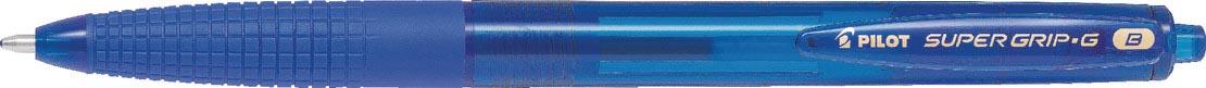 Pilot balpen Super Grip G retractable breed blauw