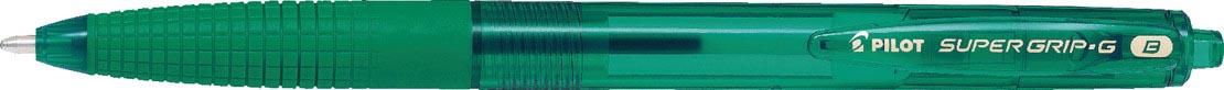Pilot balpen Super Grip G retractable breed groen