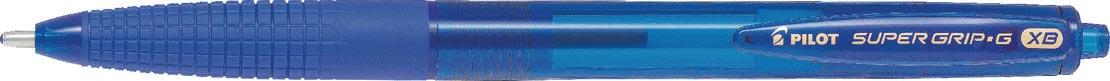 Pilot balpen Super Grip G retractable extra breed blauw