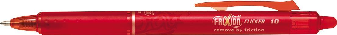 Pilot balpen FriXion Ball Clicker 10 rood