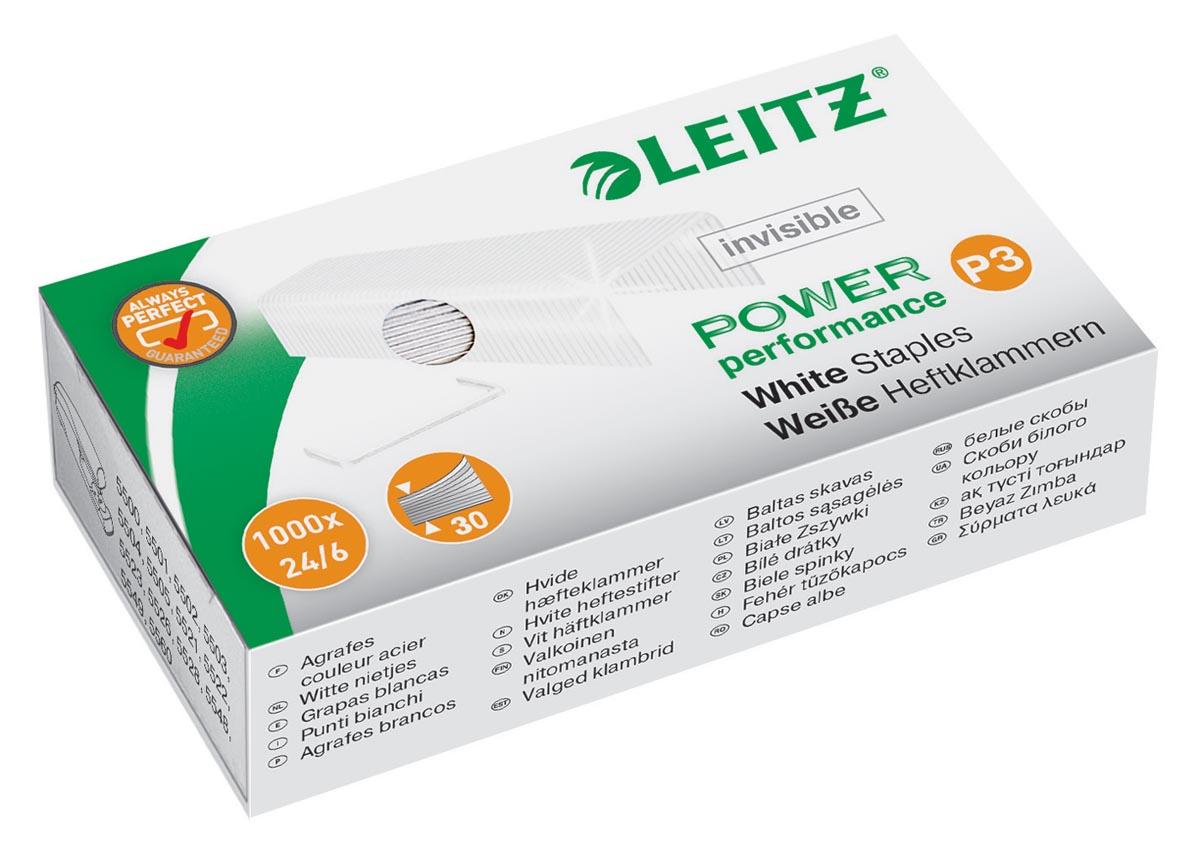 Leitz Power Performance P3 witte nietjes, doos van 1000 stuks