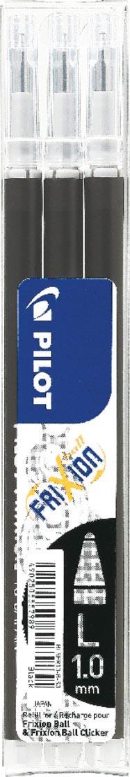 Pilot balpenvulling FriXion Ball/Clicker, zwart, etui van 3 stuks