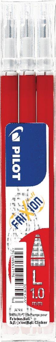 Pilot balpenvulling FriXion Ball/Clicker, rood, etui van 3 stuks