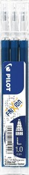 Pilot balpenvulling FriXion Ball /Clicker 10 blauwzwart, set van 3 stuks