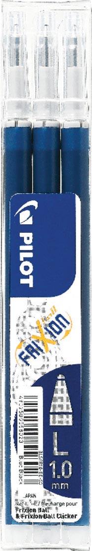 Pilot balpenvulling FriXion Ball/Clicker, blauw-zwart, etui van 3 stuks