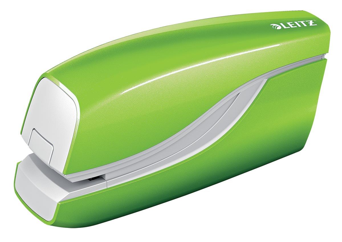 Leitz WOW elektrische nietmachine, 10 blad, voor nietjes E1, groen