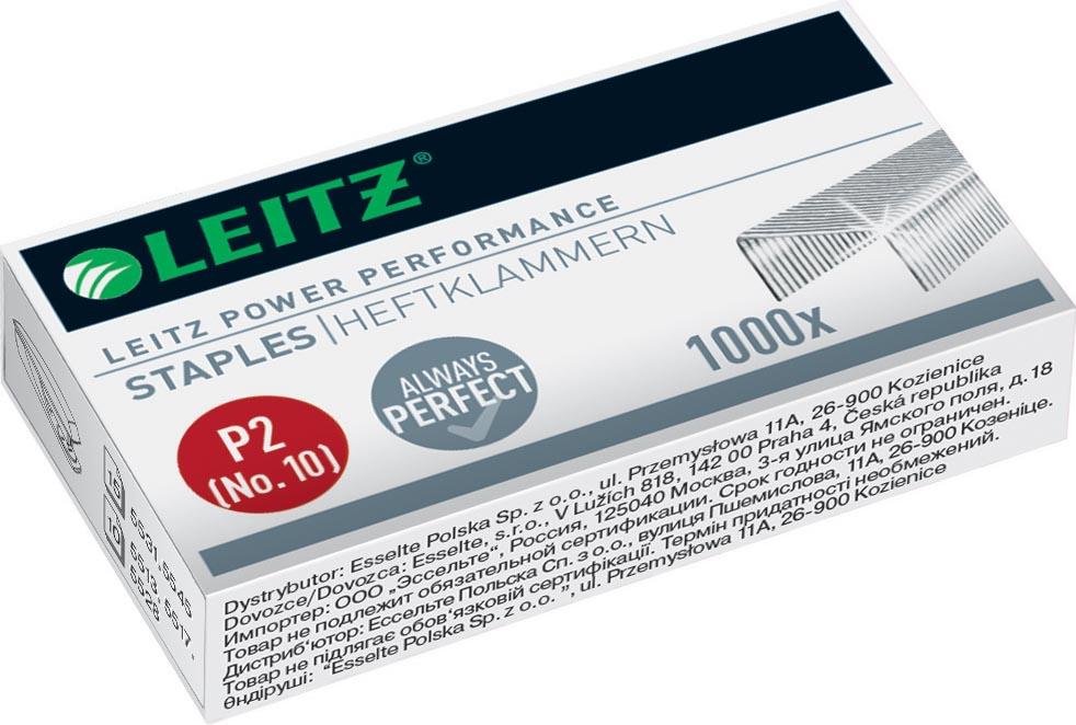 Leitz Power Performance P2 nietjes nr. 10, staal, doos van 1000 stuks