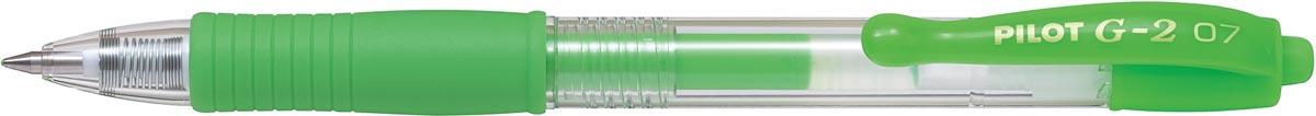 Pilot roller intrekbare Gelpen G-2 neongroen