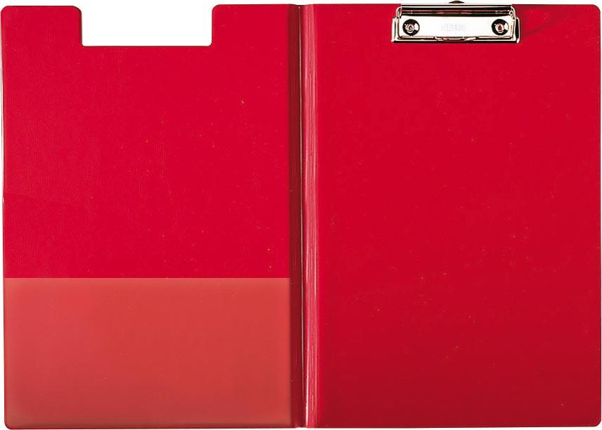 Esselte Klemplaat met omslag Voor ft A4, uit PP, Ft 25 x 35 cm, metalen klem, extra insteekhoes aan