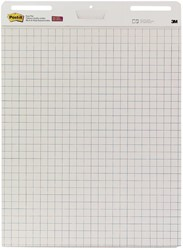 Post-it meeting chart, ft 63,5 x 77,5 cm, geruit, 30 vel, pak van 2 blokken