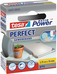 Tesa extra Power Perfect, ft 19 mm x 2,75 m, grijs