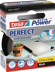 Tesa extra Power Perfect, ft 19 mm x 2,75 m, zwart