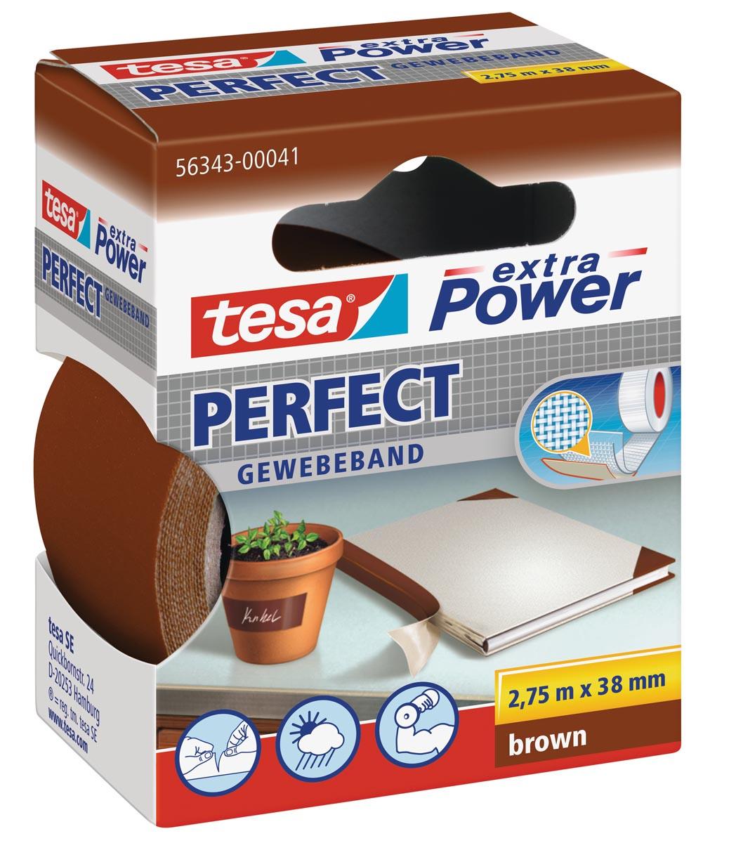 Tesa extra Power Perfect, ft 38 mm x 2,75 m, bruin