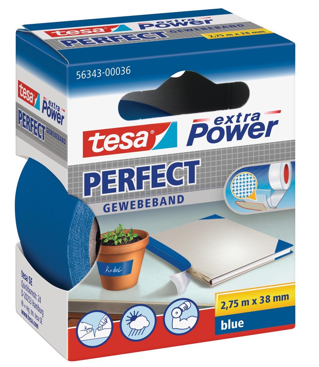 Tesa extra Power Perfect, ft 38 mm x 2,75 m, blauw