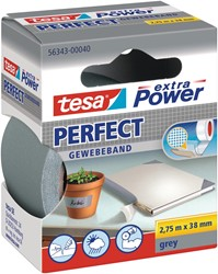 Tesa extra Power Perfect, ft 38 mm x 2,75 m, grijs