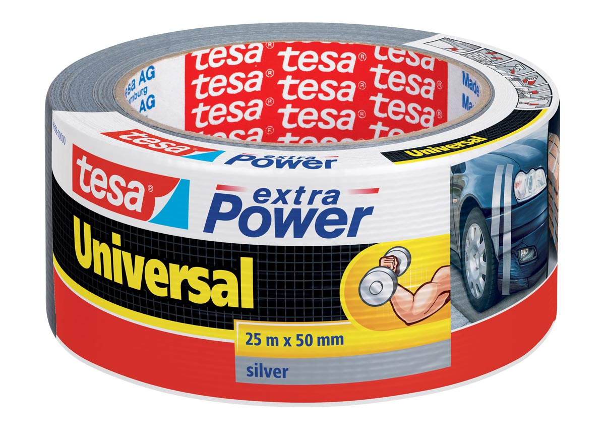 Tesa extra Power Universal, ft 50 mm x 25 m, grijs