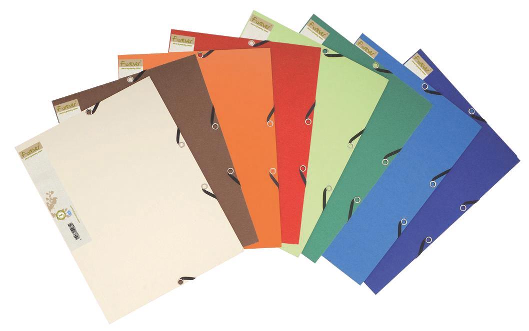 Exacompta elastomap Forever geassorteerde kleuren: zand, ivoor, blauw, donkerblauw, groen, lichtgroe