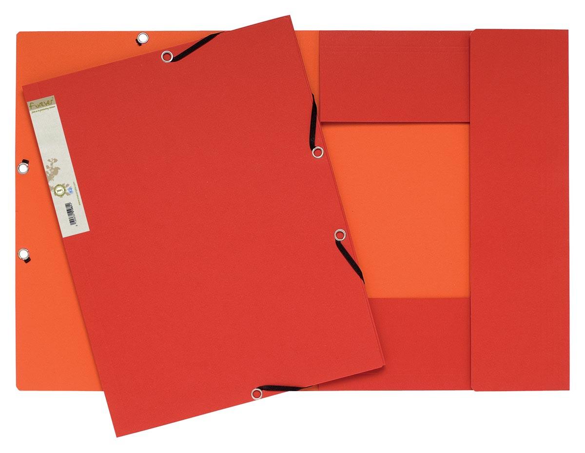 Exacompta elastomap Forever rood/oranje