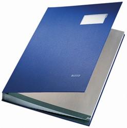 Leitz handtekenmap 20 vakken blauw
