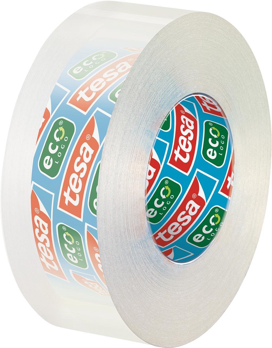 Tesafilm eco & clear ecoLogo, ft 19 mm x 33 m, toren van 8 rolletjes