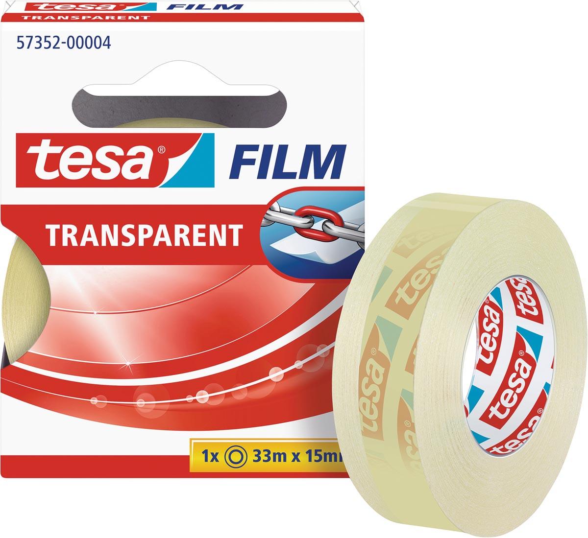 Tesafilm Transparant, ft 33 m x 15 mm
