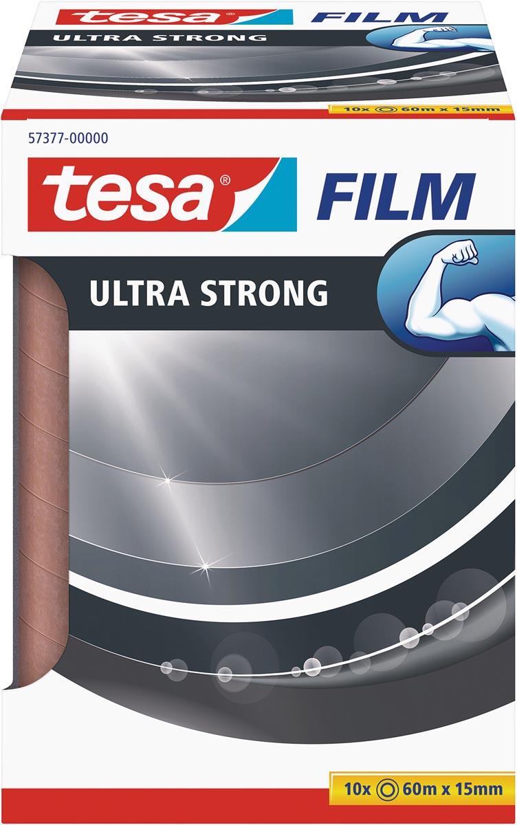 Tesafilm Ultra-Strong, ft 60 m x 15 mm, toren van 10 rolletjes