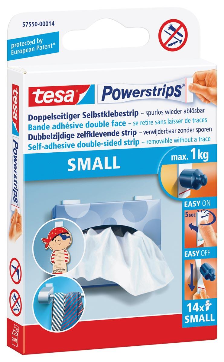 tesa Powerstrips SMALL, draagkracht 1 kg, blister van 14 stuks
