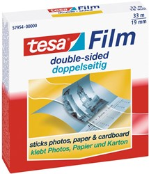 Tesafilm dubbelzijdige tape, ft 33 m x 19 mm, wegwerpdispenser met 1 rol