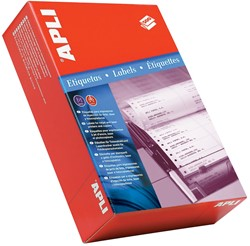 Apli etiketten op kettingpapier 1 rij ft 88,9 x 36 mm (b x h) doos van 4000 stuks, breedte vel: 114,3 mm