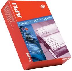 Apli etiketten op kettingpapier 1 rij ft 88,9 x 48,7 mm (b x h) doos van 3000 stuks breedte vel: 114,3 mm