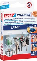 Tesa kleefstrip Powerstrips, draagkracht 2 kg, blister van 10 stuks