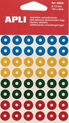 Apli versterkingsringen geassorteerde kleuren, etui van 144 stuks