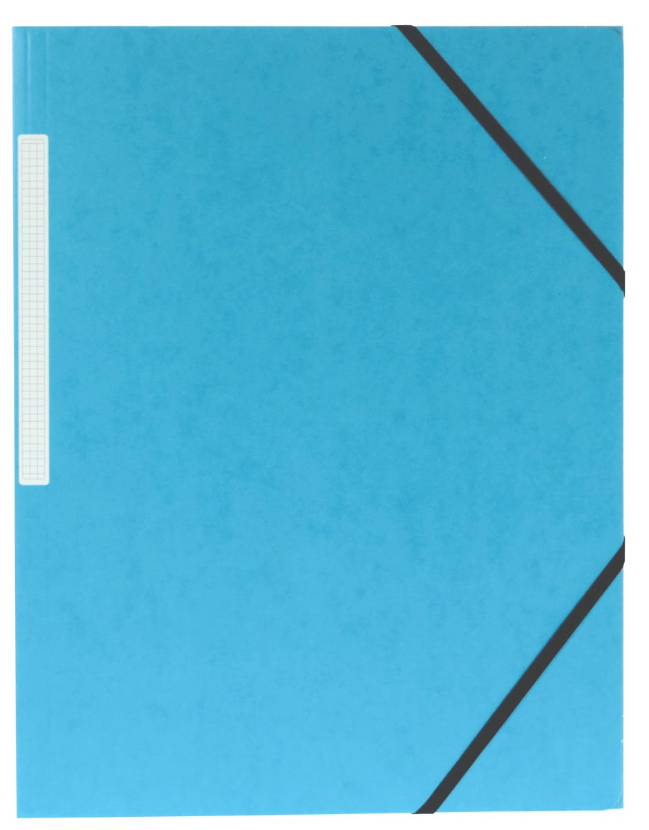 Pergamy elastomap 3 kleppen, lichtblauw, pak van 10 stuks