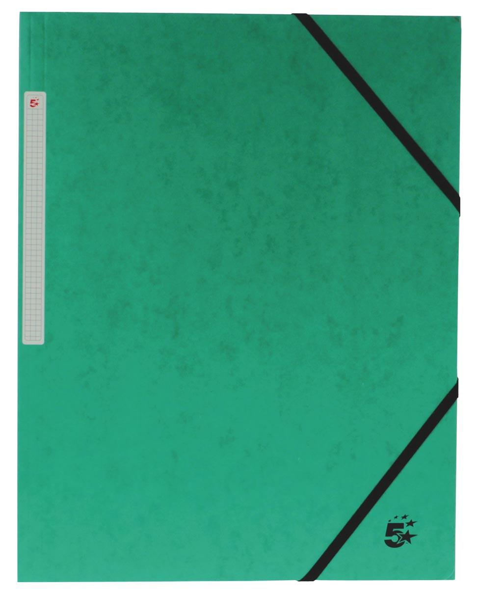 Pergamy elastomap 3 kleppen, donkergroen, pak van 10 stuks