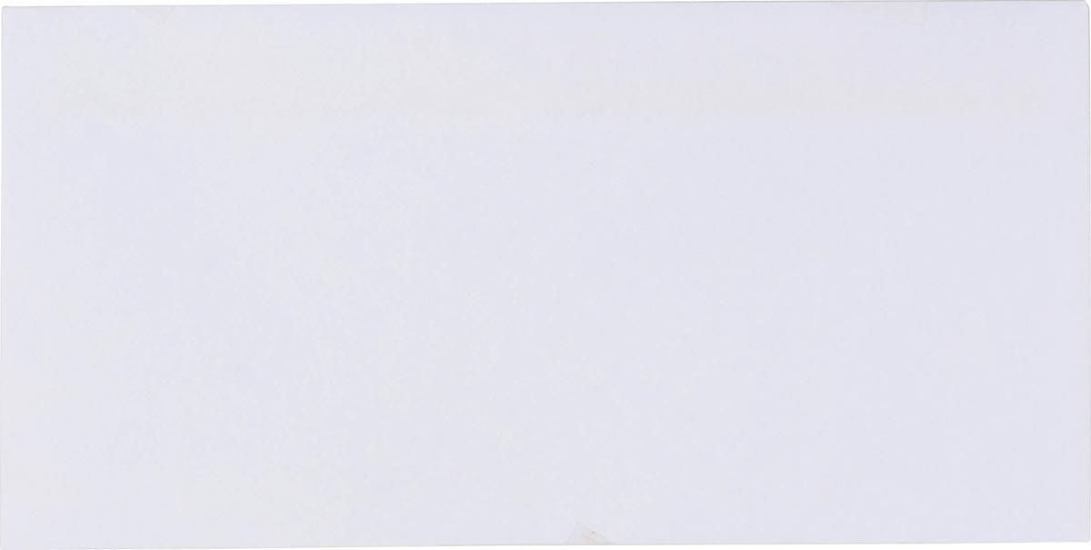 Pergamy enveloppen met venster 80 g, ft DL 110 x 220 mm, zelfklevend, wit, doos van 500 stuks