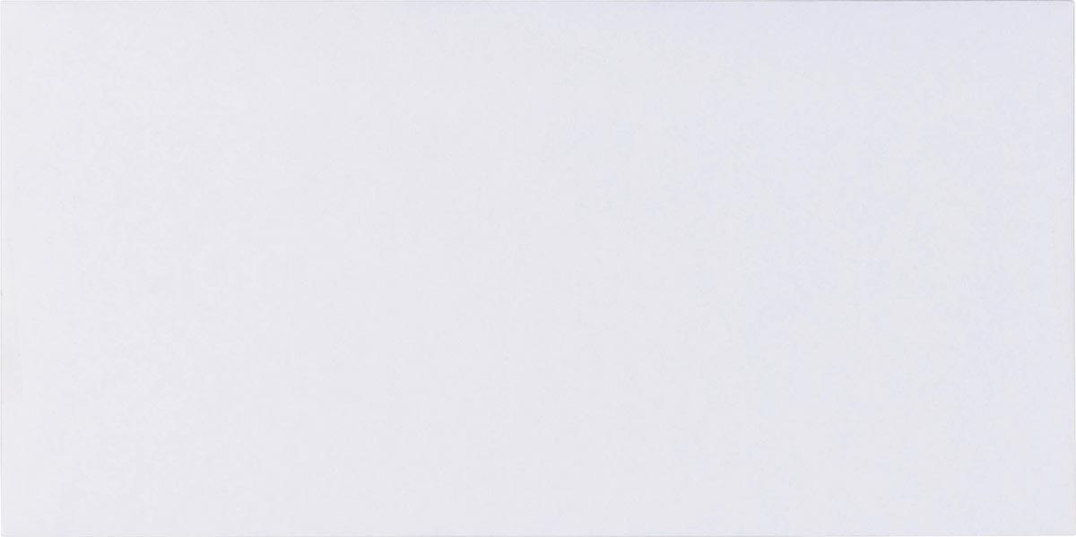 Pergamy enveloppen met venster 80 g, ft DL 110 x 220 mm, zelfklevend met strip, wit, doos van 500 st