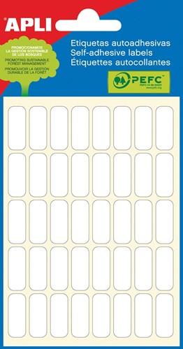 Apli witte etiketten ft 8 x 20 mm (b x h), 240 stuks, 40 per blad (2668)