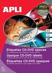 Apli etiketten voor CD/DVD doos van 100 blad, 200 etiketten