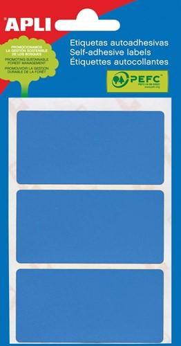 Apli gekleurde etiketten in etui blauw (2072)