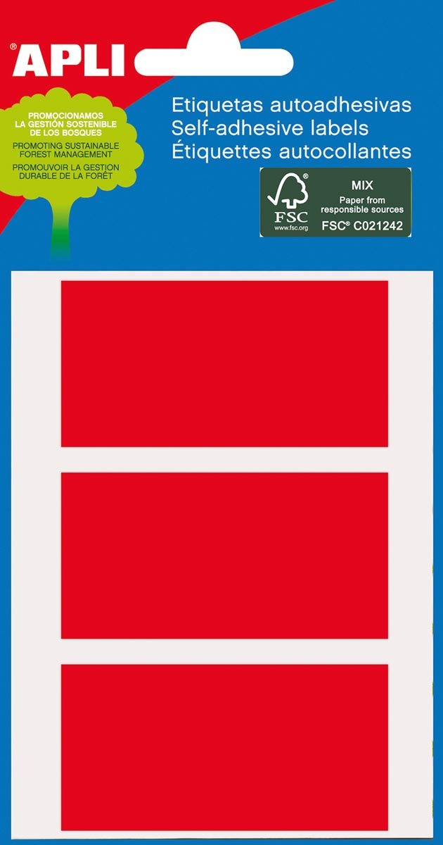 Apli gekleurde etiketten in etui rood (2073)