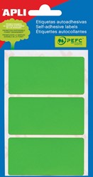 Apli gekleurde etiketten in etui groen (2074)