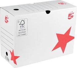 5 Star archiefdoos ft 25 x 33 x 15 cm (h x l x b), wit/rood